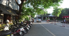 4k walking tour - nimman soi chiang mai at sunset Stock Footage
