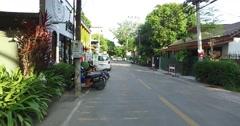 4k walking tour - nimman soi chiang mai trendy coffee ship Stock Footage