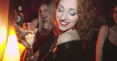 Tipsy Men and Women Dancing Stock Footage