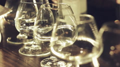Drinking glasses Stock Footage