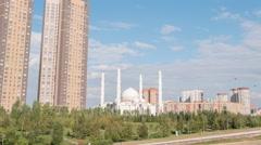 Hazrat Sultan Mosque. Almaty, Kazakhstan. TimeLapse Stock Footage