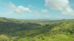 Filipina jungle and forest. Aerial views  Stock Footage