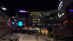 Modern Shopping Mall In City Center in Warsaw. Poland. 4K. Stock Footage