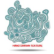 Ink hand drawn texture. Psychedelic blue wave background. Marble pattern Stock Illustration