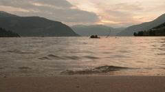 Coast of the Norwegian fjord. Norway. Stock Footage