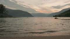Coast of the Norwegian fjord. Norway. Smooth dolly shot. Stock Footage