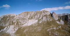 Aerial, Amazing Mountains In Durmitor National Park, Montenegro Stock Footage