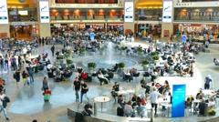 Passengers at Israel's Ben Gurion international airport Stock Footage