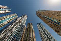 Skyscrapers in Dubai Marina. Kuvituskuvat