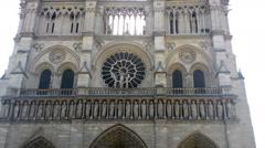 Front View Notre-Dame De Paris Stock Footage