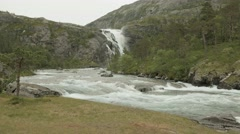 Waterfall in Norway. Stock Footage