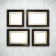 Wooden frame on wallpaper Stock Illustration