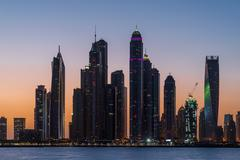 Skyscrapers in Dubai Marina from the Palm Kuvituskuvat