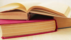 Three books Stock Footage