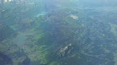 Aerial viel above the alps (4K UHD footage) Stock Footage