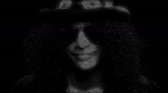 Slash Face Animation Stock Footage