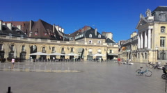 Square In The City Of Dijon Stock Footage