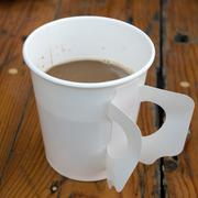 The paper cup of hot coffee Stock Photos
