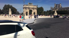 The Road Near The Louvre In Paris Stock Footage