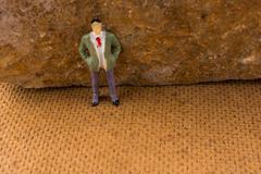 Human on a rock Stock Photos