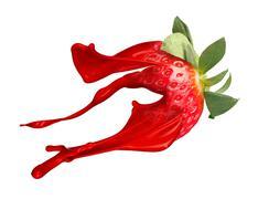 Red strawberry with paint splash Kuvituskuvat