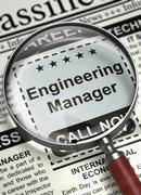 We're Hiring Engineering Manager. 3D Stock Illustration