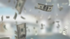 Money Background With a Dolars Stock Footage