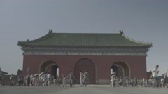 Building in traditional Chinese style in the Park. Beijing. China Stock Footage