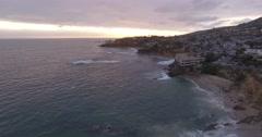 Aerial footage over Laguna Beach, California Stock Footage