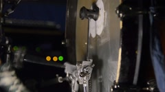 Bass drum pedal in action Stock Footage