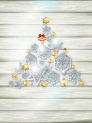 Christmas template with paper cutout. EPS 10 Stock Illustration