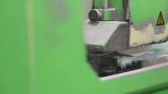The work of grinding machine Stock Footage