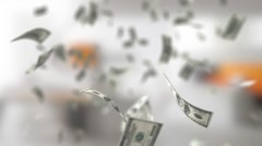 Financial Background With a Dolars Stock Footage