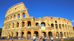 Roman Colosseum with people Stock Footage