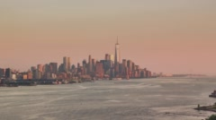Lower Manhattan from the New Jersey Stock Footage