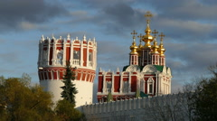 Tower of the Novodevichy Convent Stock Footage