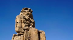 Egyptian Statue in the Great Hall in the Temple of Karnak Stock Footage