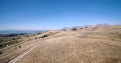 Aerial, Gornji Unac Farmlands, Montenegro - Graded and stabilized version Stock Footage