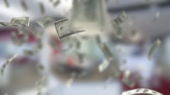 Economic Background With a Banknotes Stock Footage