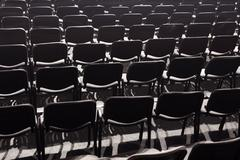 Empty parterre in a concert hall. Stock Photos