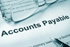 Paper with sign Accounts payable. Business concept. Stock Photos