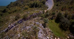 Aerial, Flying Around Slansko Jezero Lake, Montenegro Stock Footage