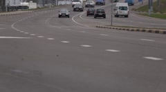 Belarus, Gomel 18 October 2016: The traffic on the thoroughfare of the city Stock Footage