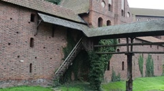 Castle of Teutonic Order in Malbork, Poland Stock Footage