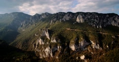 Aerial, Tara River Canyon, Montenegro - Graded and stabilized version Stock Footage