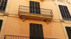 Old street in Palma, Mallorca, Balearic, Spain Stock Footage