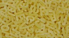 Alphabetti spaghetti Stock Footage