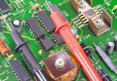 Multimeter test probes Stock Photos