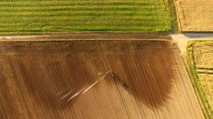 TIME LAPSE Aerial of a irrigation plant for agriculture Stock Footage