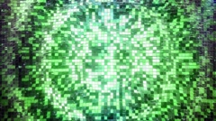 Green-Sky square blocks background waves animation. Seamless loop. Stock Footage